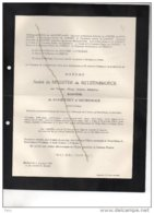 André De Meester De Betzenbroeck De Radzitsky D'Ostrowick °Liège 1883 + 1/3/1962 Etterbeek De Caters Laminne De BEX - Avvisi Di Necrologio