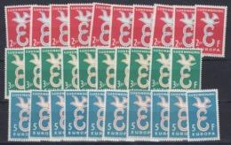 Europa Cept 1958 Luxemburg 3v (10x) ** Mnh (44986) - 1958