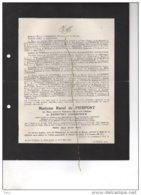 Marie De Radzitzky D'Ostrowick X Raoul De Pierpont °malines 1878 + 15/7/1946 Mettet Bourgmestre De Schaetzen De Brienen - Avvisi Di Necrologio