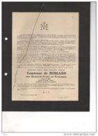 Comtesse De Robiano Née Pycke De Petegem Des Ames Du Purgatoire °1857 + 1/12/1944 Marchin De Briey Vuylsteke D'Henripret - Avvisi Di Necrologio