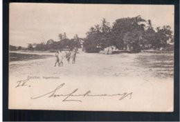 TANZANIA Zanzibar Negerviertel 1903 Old Postcard - Tanzania