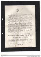 Comtesse D'Oultremont Née Pycke De Petegem Linkebeek +oostende 7/9/1937 De Festraets De Spoelberch Cornet D'Elzius Du Ch - Avvisi Di Necrologio