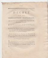 Révolution Française.Décret Convention Nationale 15,17,19, 20 Janvier 1793.Comdamnation à Mort De Louis XVI.Louis Capet - Décrets & Lois