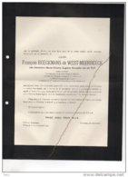 François Beeckmans De West-Meerbeek Née Van De Put °Anvers 1918 + 15/11/1949 Wiltijk Chateau Yperman De Gruben Geelhand - Avvisi Di Necrologio