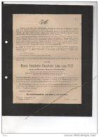 Marie Van Put Veuve Maurice Cruysmans °Anvers 1869 + 16/12/1943 Merksem Nolf Block Geerinckx Wauters Gérard - Avvisi Di Necrologio