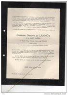 Comtesse De Lannoy Née Van Praet °1884 + 26/5/1954 Anvaing Schoten Haywards Heath Van Havre Delle Faille D'Huysse D'Huar - Avvisi Di Necrologio
