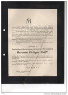 Caroline Powis De Tenbossche X SNOY °1824 +14/12/1904 Melsbroek Gamard De Pitteurs Hiégaerts T'serclaes De Wommersom - Avvisi Di Necrologio