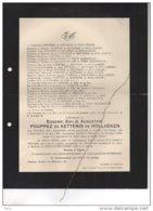 Eugenie Pouppez De Kettenis De Hollaeken °Rijmenam 1858 + 12/12/1938 Malines De Laminne De Bex Beeckmans De West Meerbee - Avvisi Di Necrologio