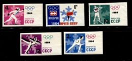 Russia 1964 Mi 2866-2870 B MNH ** - 1923-1991 USSR