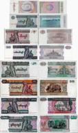 Myanmar Set 8 Pcs 0,5+1+5+10+20+50+100+200 Kyat - Pick 68-78 UNC Random Years - Myanmar