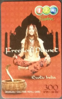 Mobilecard Thailand - 12Call - Freedom Planet - Exotic India  - Frau,Lady - Schlange,snake (1) - Telefonkarten