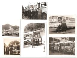 Photo Originale Du JAPON -  Photos De Plusieurs Autobus: Cars Japonais - Automobiles