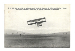 F. DE RUE 1909 BELFORT VOISIN ANTOINETTE VACUUUM OIL COMPANY PARIS CARTE DE SERVICE AVIATION /FREE SHIPPING REGISTERED - Aviateurs