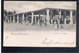 TANZANIA Deutsch- Ostafika Markthalle In Tanga 1905 Old Postcard - Tanzania