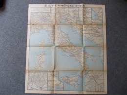 12667-CARTA FERROVIARIA D'ITALIA - SCALA 1:2000.000 - Carte Geographique