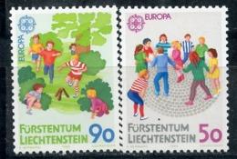 LIECHTENSTEIN 1989 960-961 EUROPA 1989 - Kids Games - 1989