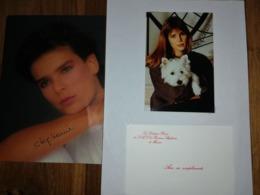 Stephanie De Monaco Autographes Et Carte De Visite - Autogramme & Autographen