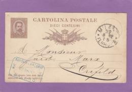 ENTIER POSTAL  DE MILANO POUR CREFELD. - 1878-00 Umberto I