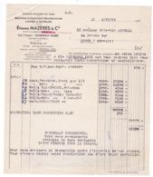 Facture 1951 Laines à Matelas Couvertures Etienne Mazères & Cie, Route D'Espagne, Oléron-Sainte-Marie - Frankreich