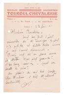 Courrier 1941 (?) Meubles Décoration Touroul Chevalerie, Coutances - Frankreich