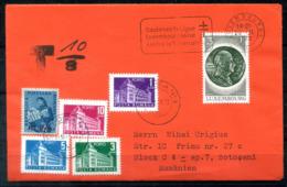 5208 - LUXEMBURG - Brief Nach Rumänien, Nachporto - Luxemburgo
