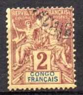 Col17  Colonie Congo  N° 13 Oblitéré Cote 4,00€ - Französisch-Kongo (1891-1960)