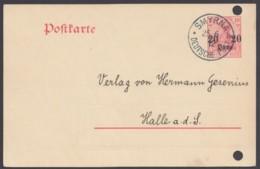 """Ganzsache P 14, Bedarf """"Smyrna"""", 25.6.12, Leider Aktenlochung - Deutsche Post In Der Türkei"""