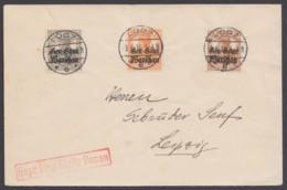 """Polen: 6,9,11, Dek. MiF Auf Brief Mit Zensur, """"Lodz"""", 9.8.16 - Besetzungen 1914-18"""