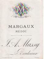 **  étiquette *** MARGAUX    Avant 1900 - Maison  Massy Bordeaux TTB - Bordeaux