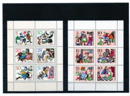 DDR, 1966/67, Michel 1236/41 U. 1323/28 - KB, Postfrisch/**/MNH, Märchen 1 U. 2, Tischlein Deck Dich/König Drosselbart - [6] Oost-Duitsland