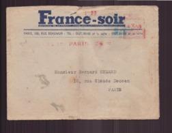"""France, Enveloppe à En-tête """" France-soir """" Du 18 Octobre 1945 De Paris Pour Paris - Covers & Documents"""