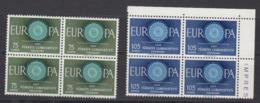 Europa Cept 1960 Turkey 2v Bl Of 4  ** Mnh (44988) - 1960