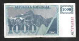 SLOVENIA - BANKA SLOVENIJE - 1000 TOLARJEV - (1990) - Slovenia