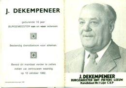 Kalender 1983 - J. De Kempeneer, Burgemeester Sint-Pieters-Leeuw - Calendriers