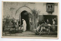 EGYPTE CAIRO Vendors Of Sugar Cane Attelage Ane Beau Tirage Carte Photo LEHNERT LANDROCK Le Caire  D14 2019 - Cairo