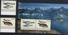 GREENLAND, 2019, MNH, FISH, 2v+SHEETLET - Fishes