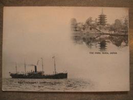 Antique Postcard JAPAN - The Park - NARA - Nippon Yusen Kaisha KAMAKURA-MARU Marine Boat - Japan