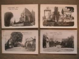 4 Cpa Photos - Vigneux-Hocquet (Vervins - Aisne) - Rue D'Agnicourt église Rue De Renneval - Vervins