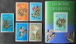 # Ghana 1984** Mi.1054-59  Flowers ,MNH  [23;69] - Plants