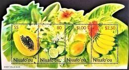 # Niuafo'ou 2001**Mi.378-81 Fruits ,MNH [19;162] - Obst & Früchte