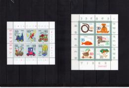 DDR, 1980/81, Michel 2566/71 U. 2661/66, - KB, Postfrisch/**/MNH, Historisches Spielzeug 1 U. 2 - [6] Oost-Duitsland