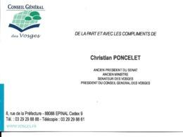 88 - Epinal - Conseil Général Des Vosges - Christian Poncelet, Président - Epinal