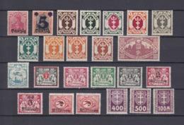 Danzig - 1920/23 - Sammlung - Ungebr. - Danzig