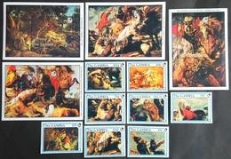 # Gambia 1990**Mi.1081-92 Painting -Peter Paul Rubens [22,8] - Rubens