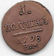 Russie - Polushka 1798 KM - SUP - Rusia