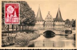 48223 Belgium, Maximum 1955  Gand Gent  Le Rabot, Architecture - Maximumkarten (MC)