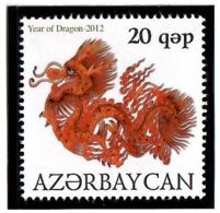 Azerbaijan 2012 . Year Of Dragon 2012.  1v:20q.  Michel # 912 - Azerbaiján