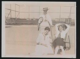 TENNIS  FOTO UIT PRIVAAT  12 X 9 CM  +- 1920 - Tennis