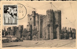 48224 Belgium, Maximum 1955  Gand Gent  Le Chateau Des Comtes , Architecture - Maximumkarten (MC)