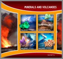 MALDIVES 2019 MNH Minerals Mineralien Mineraux Volcanoes M/S - OFFICIAL ISSUE - DH1942 - Mineralien